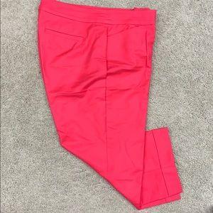 Ann Taylor hot pink capris.  Size 12 curvy.